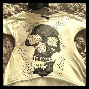 Authentic Whit Harley Davidson skull shirt